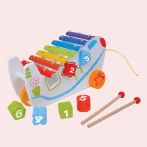 Pull Along Shape Sorter With Xylophone Toy