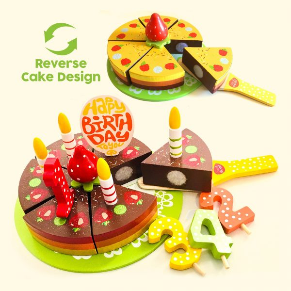 18 pieces Koco Wooden Cake Play Set