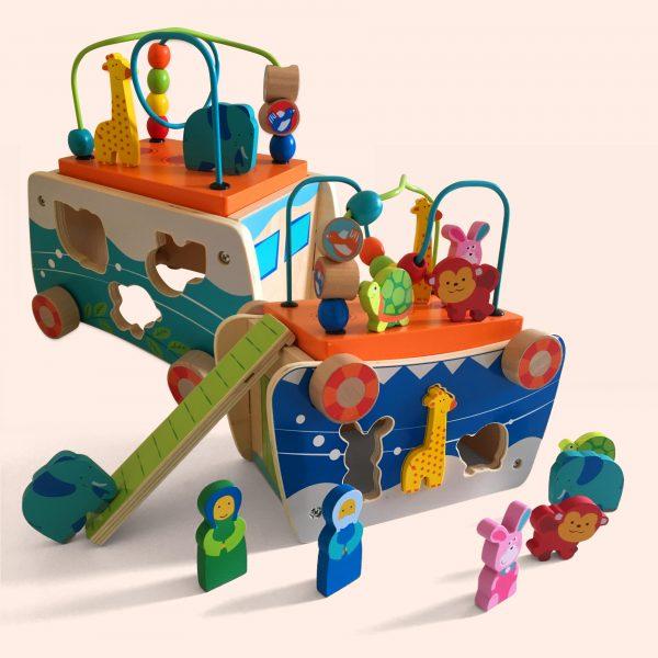 Wooden Noah Playset