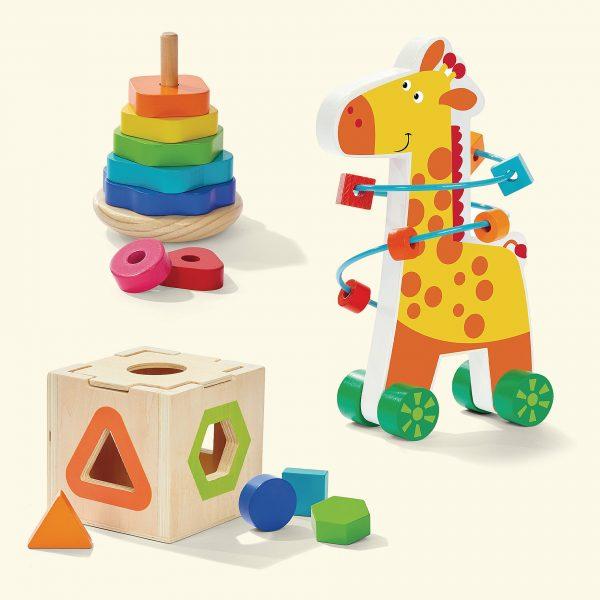 Wooden My First Shape Giraffe Toy Set