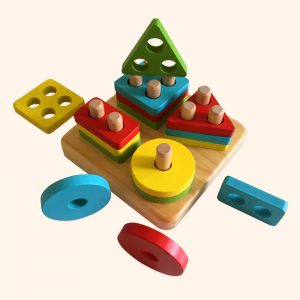Wooden Geometric Shapes Stack
