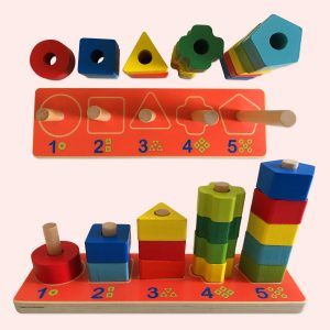 Wooden Geometric Stacker Toy