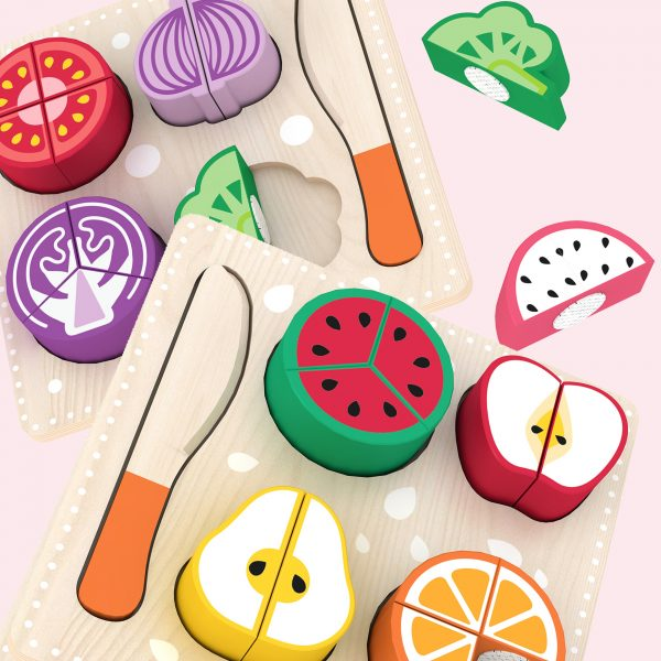 wooden fruits and vegetables toys