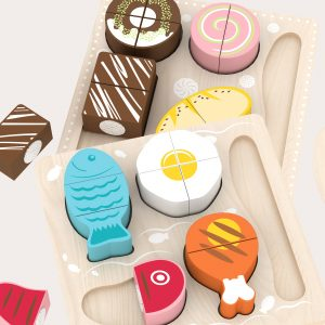 Wooden Play Food Set Toy Set