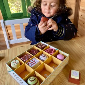Wooden Chocolates Selection Toy Box for kids