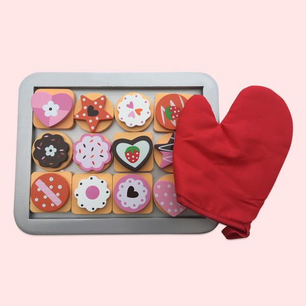 Kids Biscuit Baking Toys Set With Glove