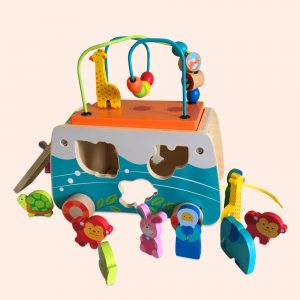 Pull Along Toy Play set with Animals