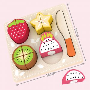 Wooden Pretend Cutting Play Food Sets
