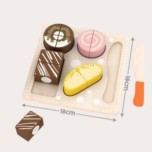 Cake Dessert Shape Jigsaw Puzzle Set 18X18 cm