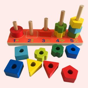 Multifunctional Wooden Activity Play Set