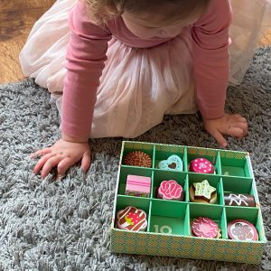 Kids Wooden Biscuit Box