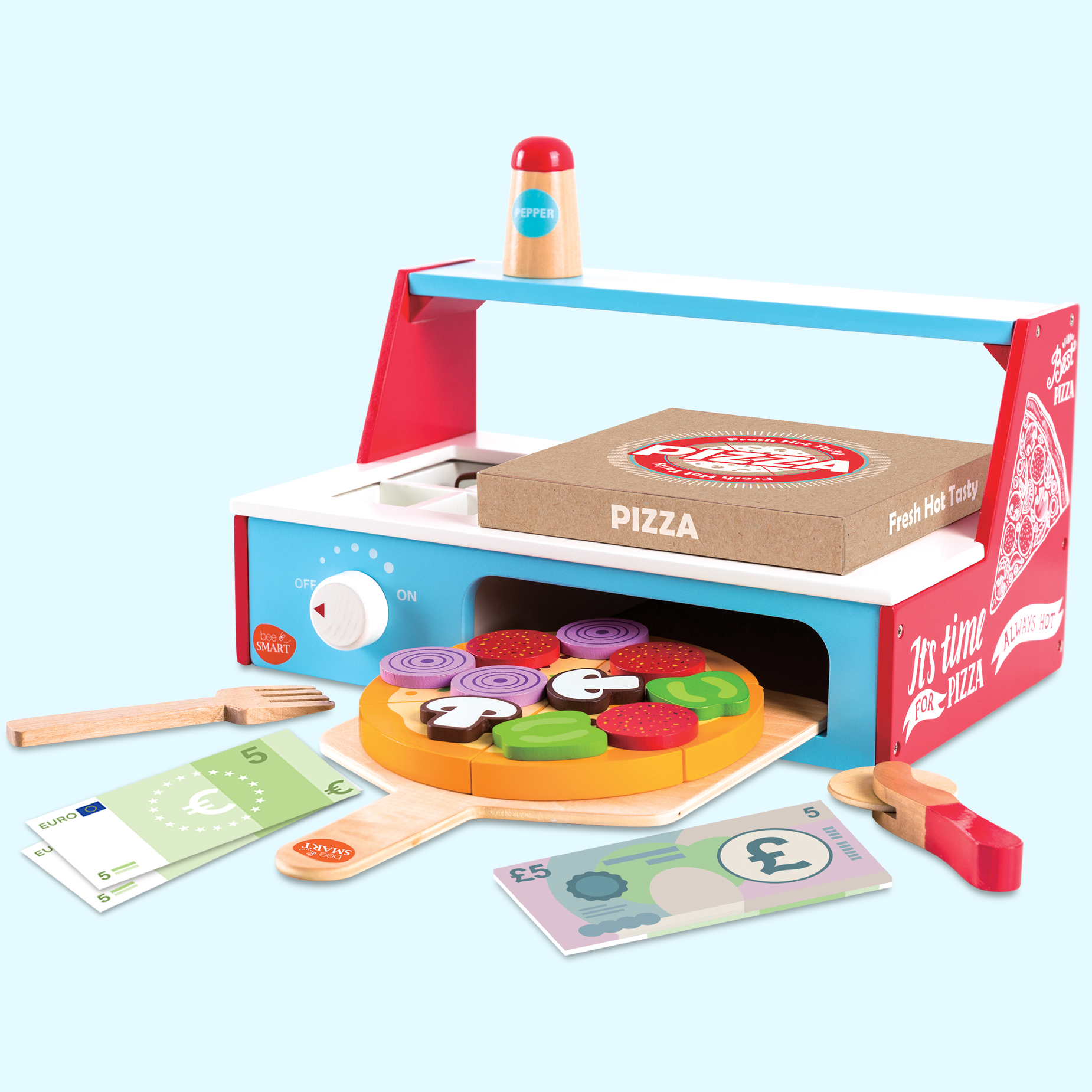 Wooden Pizza Oven With Accessories Playset