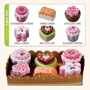 Kids wooden cakes toy set