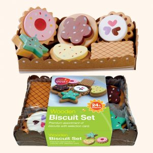 Colourful Wooden Toy Biscuits