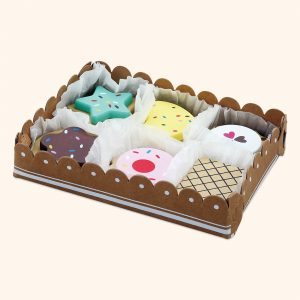 Kids Wooden Toy Biscuits Selection Box