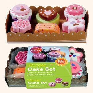 Kids Wooden Cake Play Set