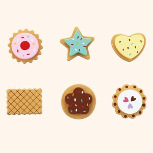 Colourful Selection Of Wooden Biscuit Toys