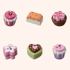 Colourful Wooden Cake Play Toys Set
