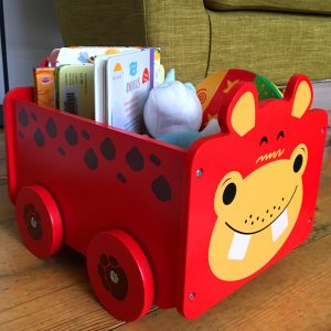 Sturdy Wooden Pull Along Toy Box