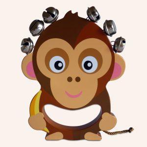 Kids Musical Monkey Wooden Hand Bell