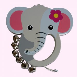 Beautiful Elephant Wooden Hand Bell For Babies Toddlers
