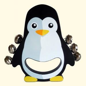 Kids Musical Penguin Wooden Hand Bell