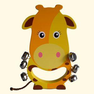 Giraffe Wooden Hand Bell For Kids