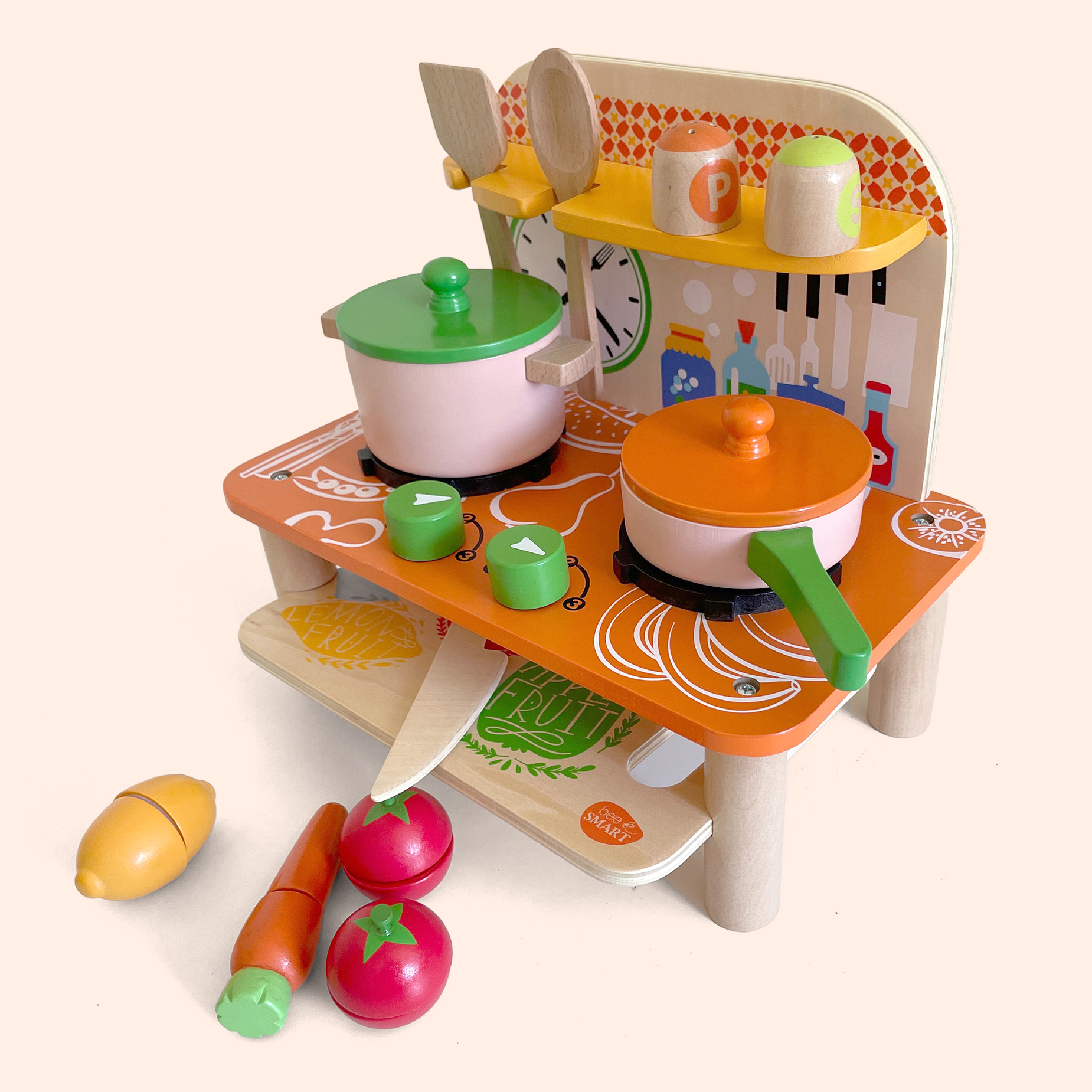 Colourful Wooden Kitchen Playset