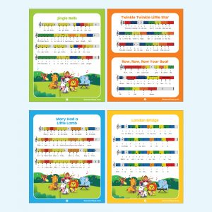 Xylophone Wooden Musical Toys Song Sheets