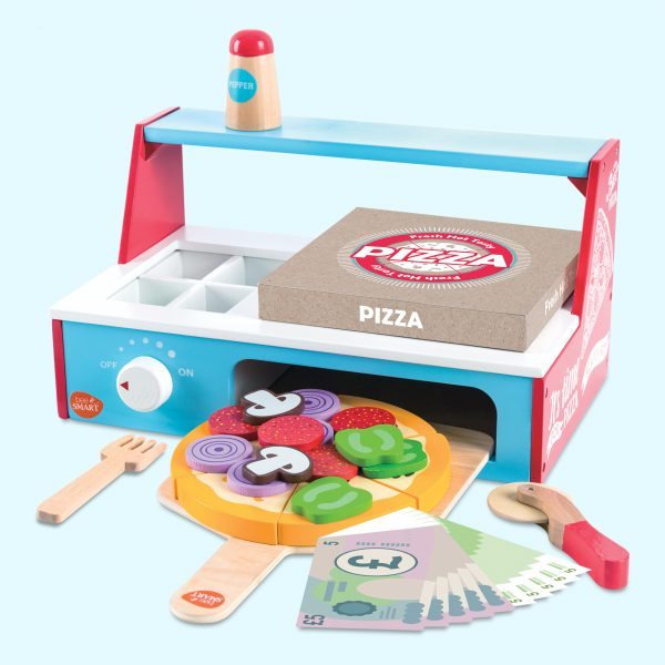 Wooden Toy Pizza Oven Playset