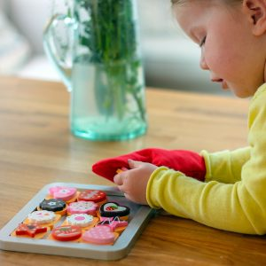 Colourful Biscuit Baking Toys Set With Glove