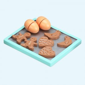 My Baking Cookie Playset - Tray with 6 cookies & 2 Eggs