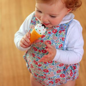 Baby playing with Wooden Ice Cream