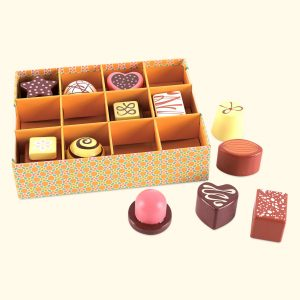 Wooden Chocolate Toy Set for pretend play