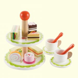 Colourful Wooden Tea Set With Two Cup