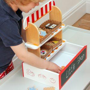 Handmade Wooden Supermarket Toy Set for Kids