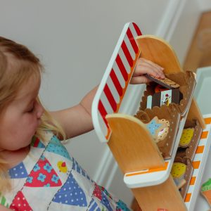 Non Toxic Wooden Play Food Set for Girls & boys