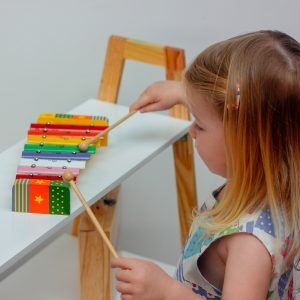 Playing Xylophone Musical Toy Develop A Sense Of Accomp